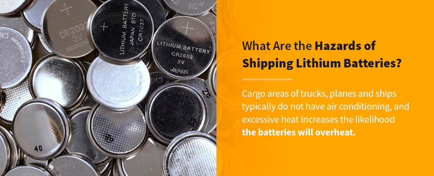 what are the hazards of shipping lithium batteries