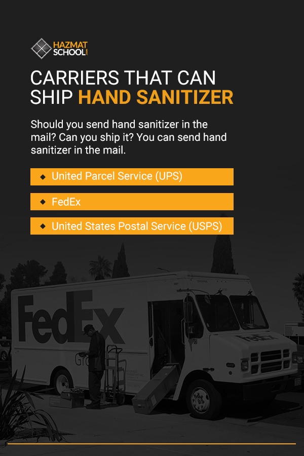 Carriers That Can Ship Hand Sanitizer (USPS, UPS, FedEx, etc.)