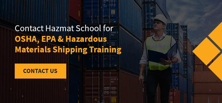 OSHA, EPA and Hazardous Materials Shipping Training
